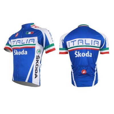 ITALIA Skoda Short Sleeve Cycling Jersey And Short Bib Pants-cycling