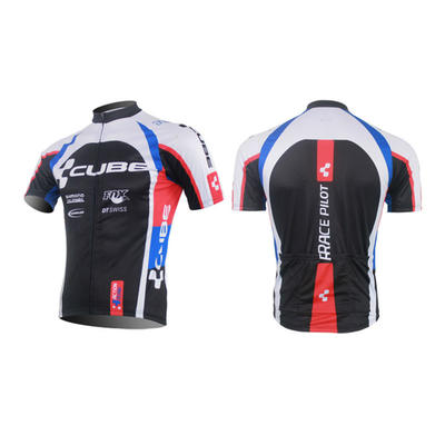 Cube Short Sleeve Cycling Jersey And Short Bib Pants-cycling Clothing